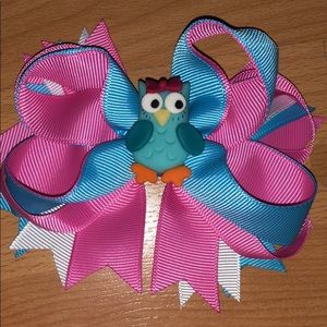 Girls Hair Clip with Owl
